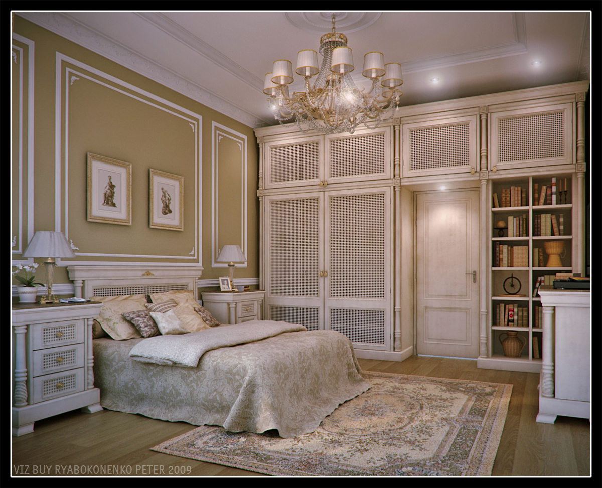 classic bedroom. Classic bedroom by 3duser  Portfolio work Evermotion