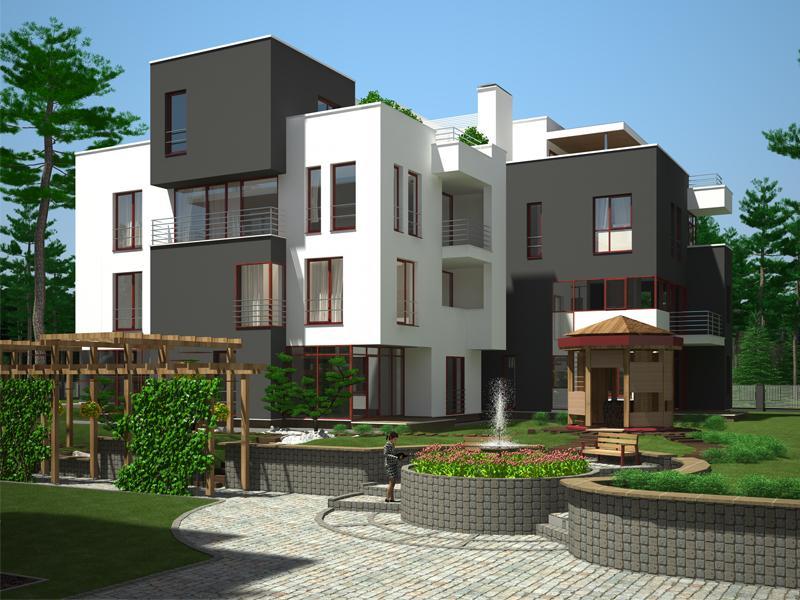 Low Rise Apartment Building Complex Portfolio Work Evermotion