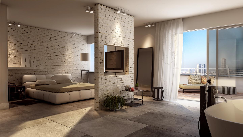 Interior scene form residential building portfolio work for Vray interior scene