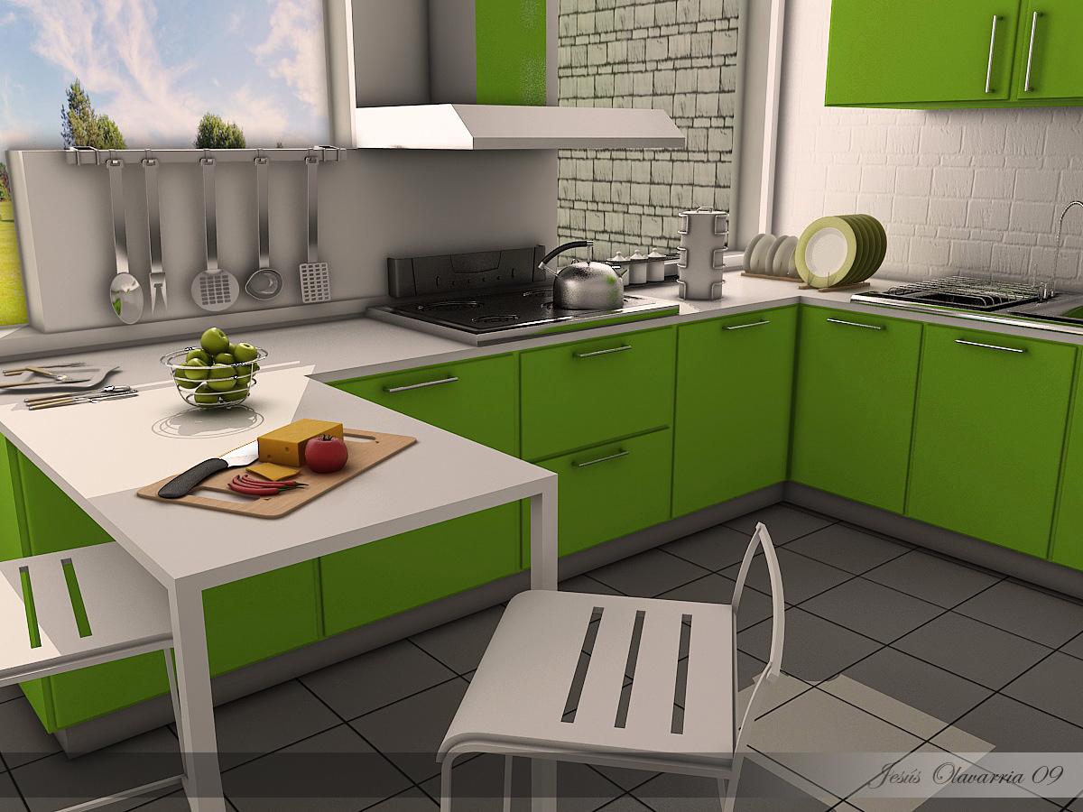 Cocina Verde by Jesús Olavarria - Portfolio work - Evermotion