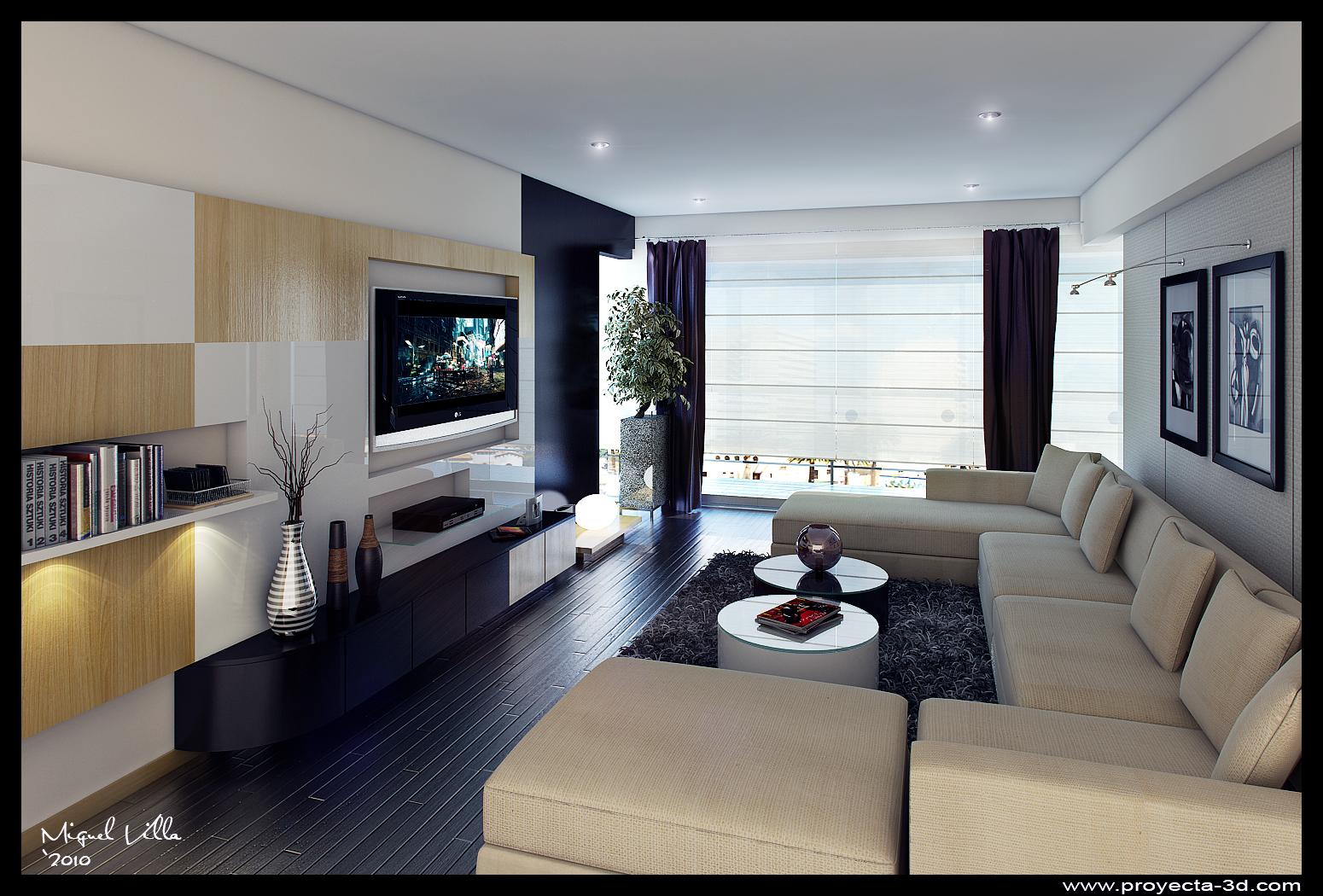 Sala Tv Portfolio Work Evermotion -> Fotos De Salas De Tv