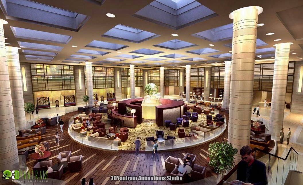 Hotel Interior Design Rendering By Ruturaj Desai
