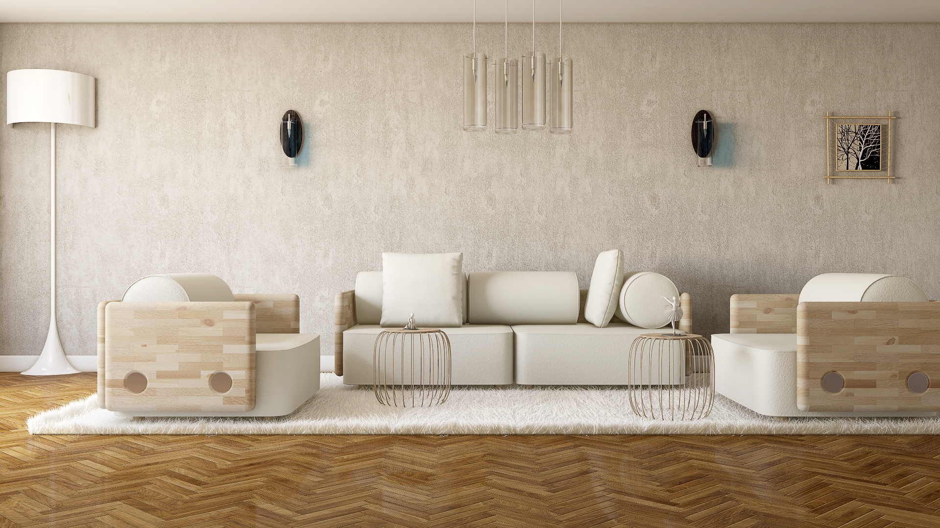 White salon portfolio work evermotion for A touch above salon
