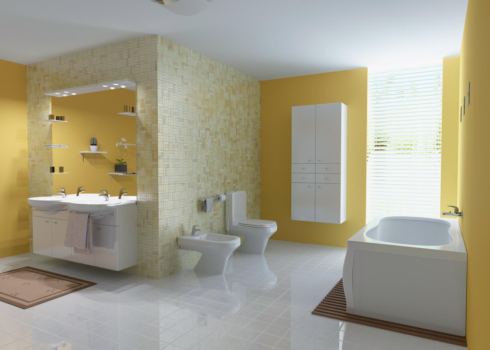 interior residential house bathroom - Portfolio work - Evermotion