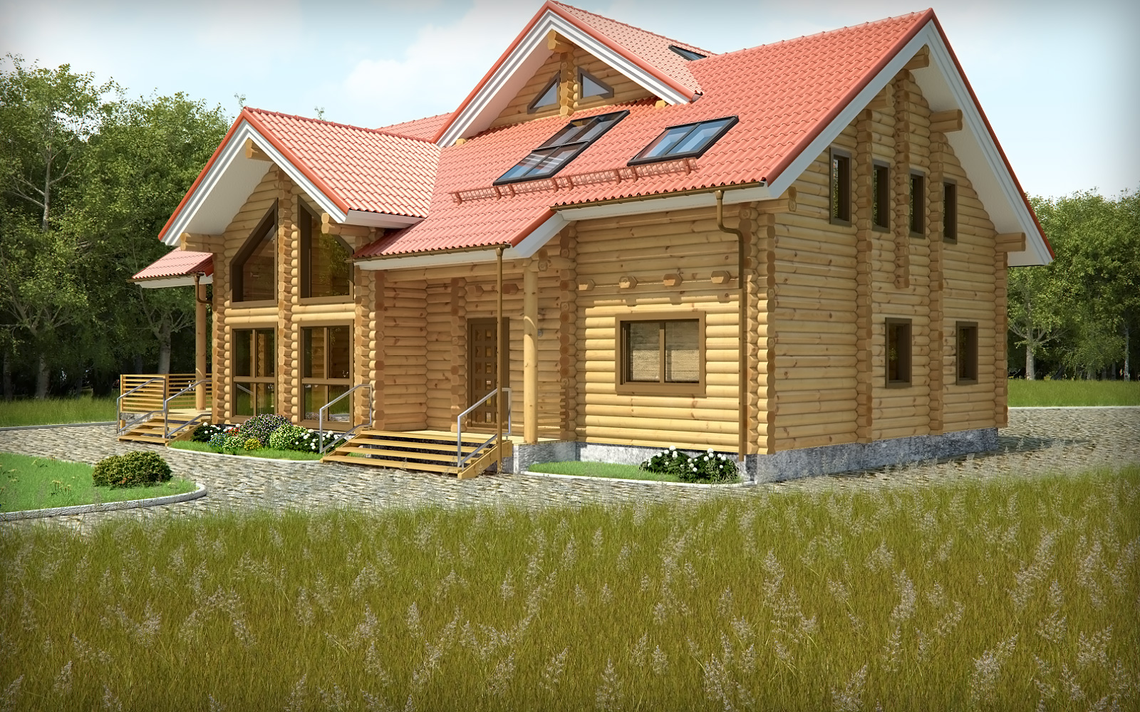 wooden country house - portfolio work - evermotion