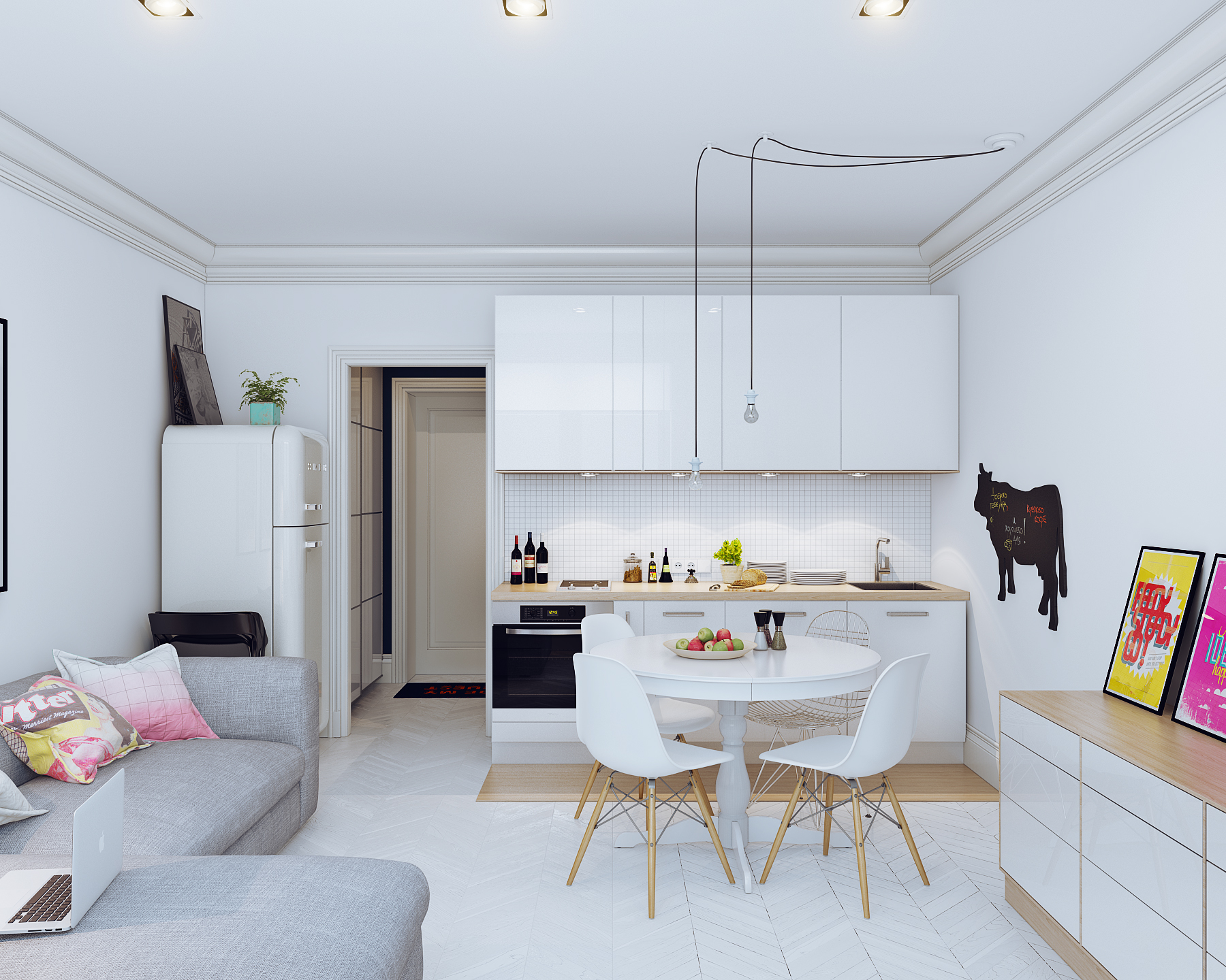 apartment cozy small studio interior with pink home design d