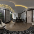 360 panorama view of office interior for client