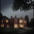 English house - night.