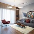 Design apartment living + kitchen room in Hanoi, Vietnam