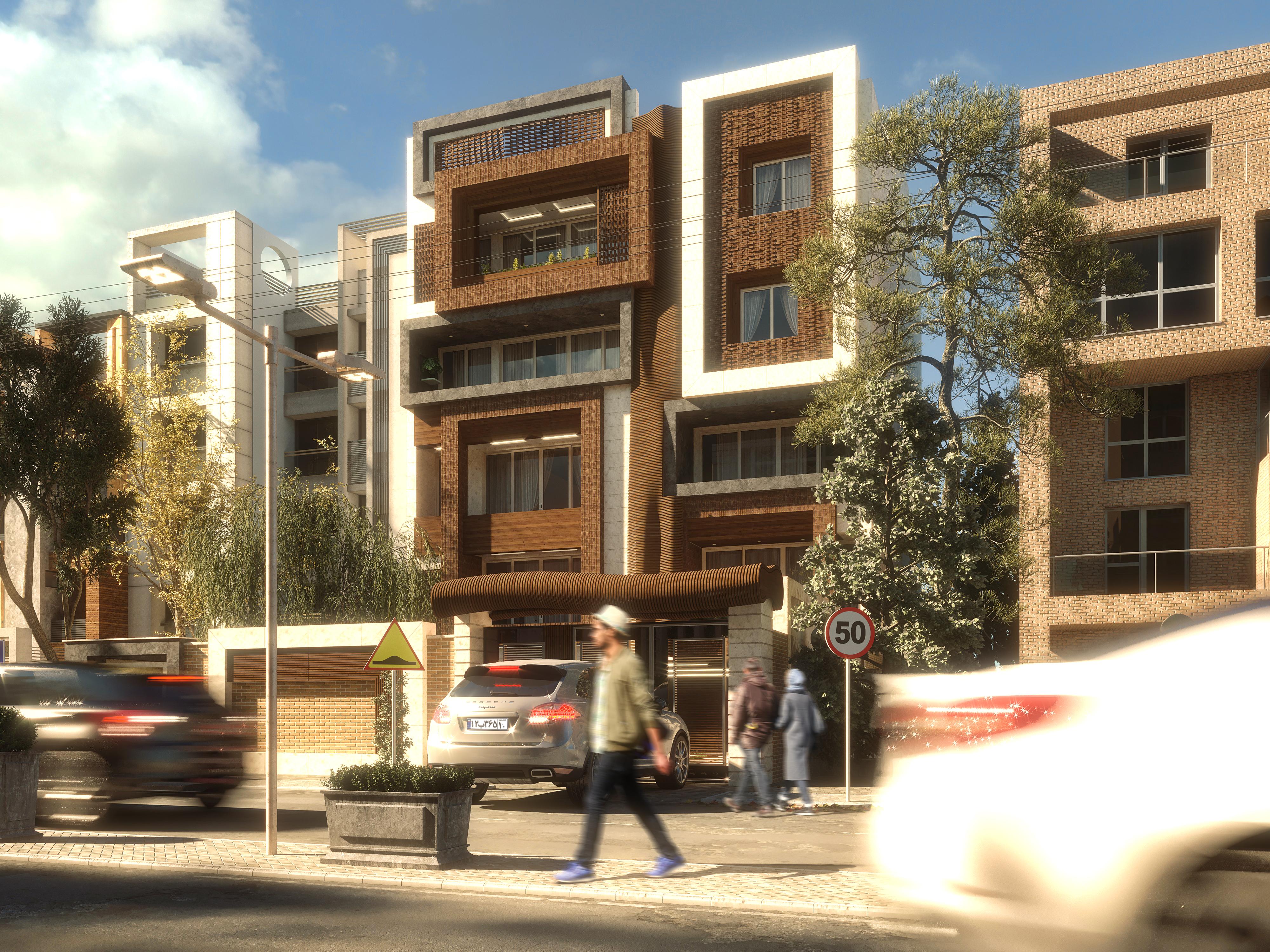 exterior design of Residential building