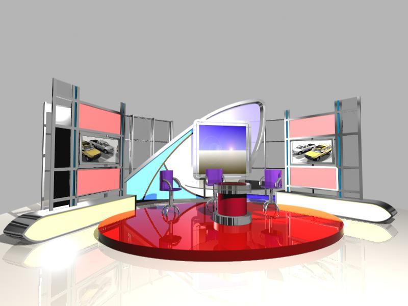 002 News Tv Studio Set Design Download