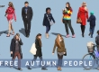 12 free cut out autumn people by VIShopper