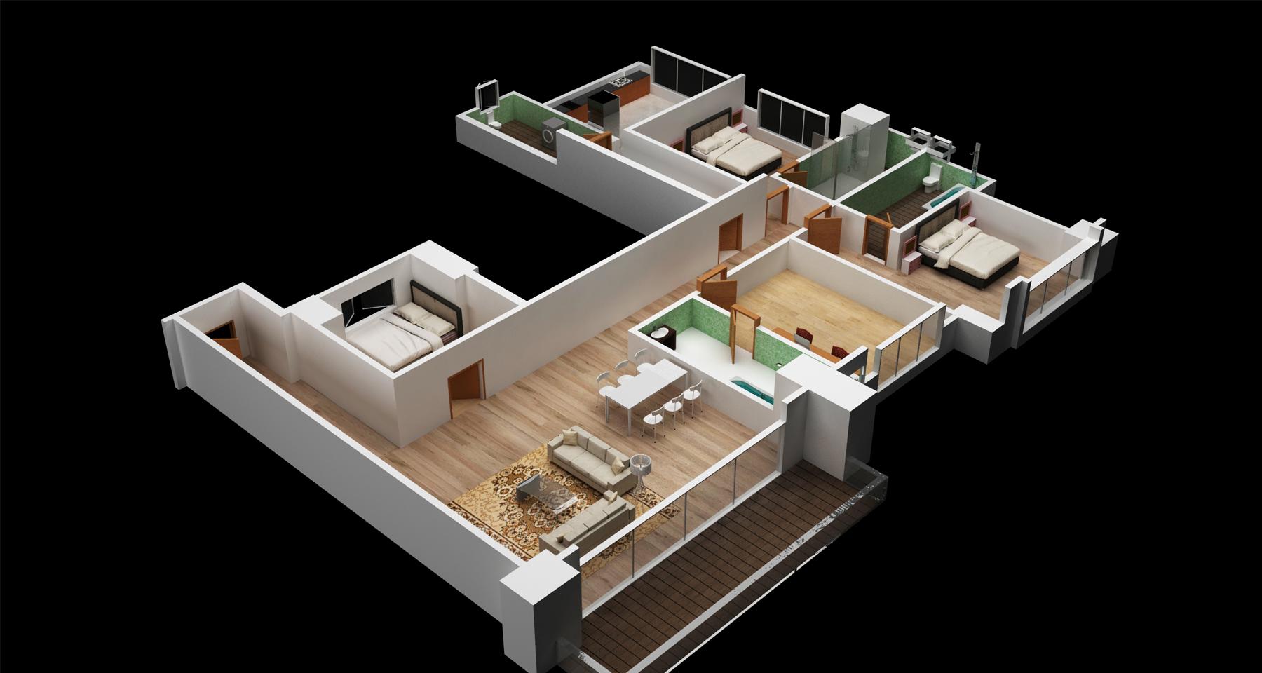 3D Floor Plan Part - 35: Evermotion