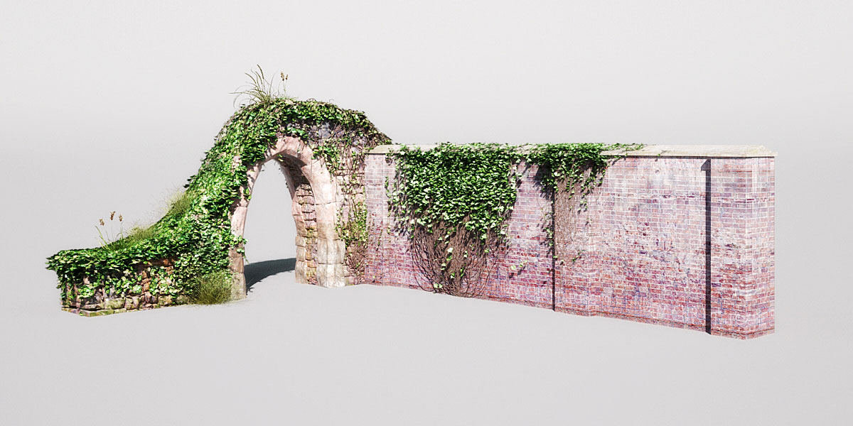 garden wall 7 AM148 Archmodels