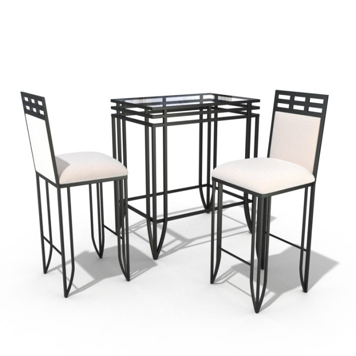 table & chair set 57 AM54 Archmodels