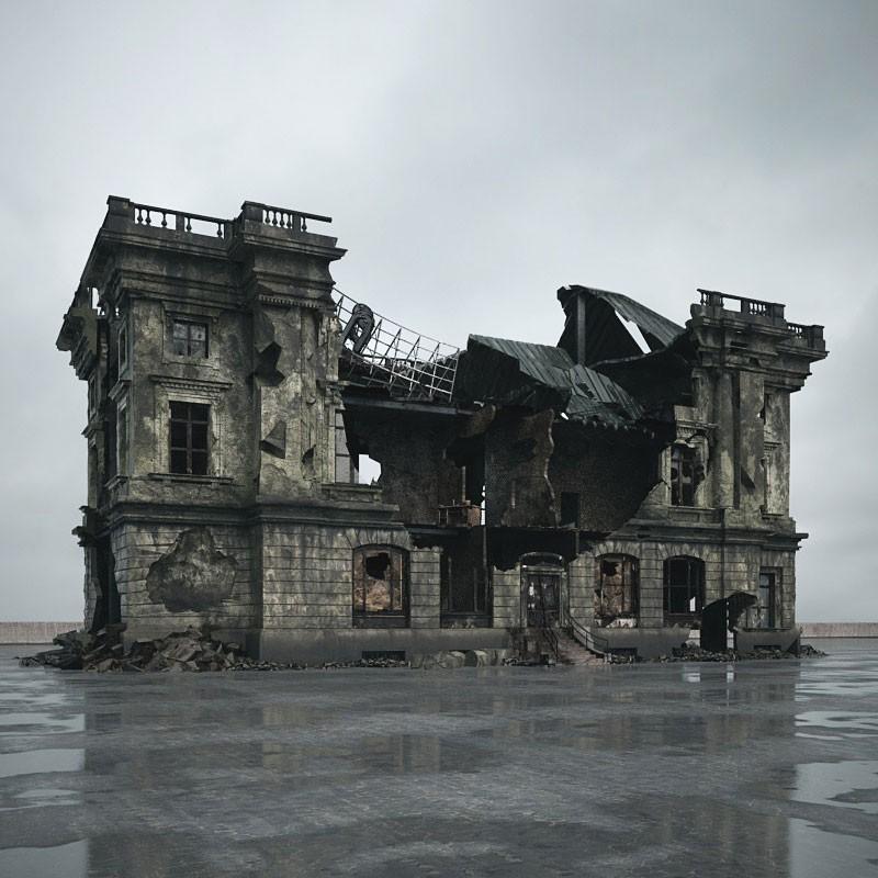 destroyed building 094 am165