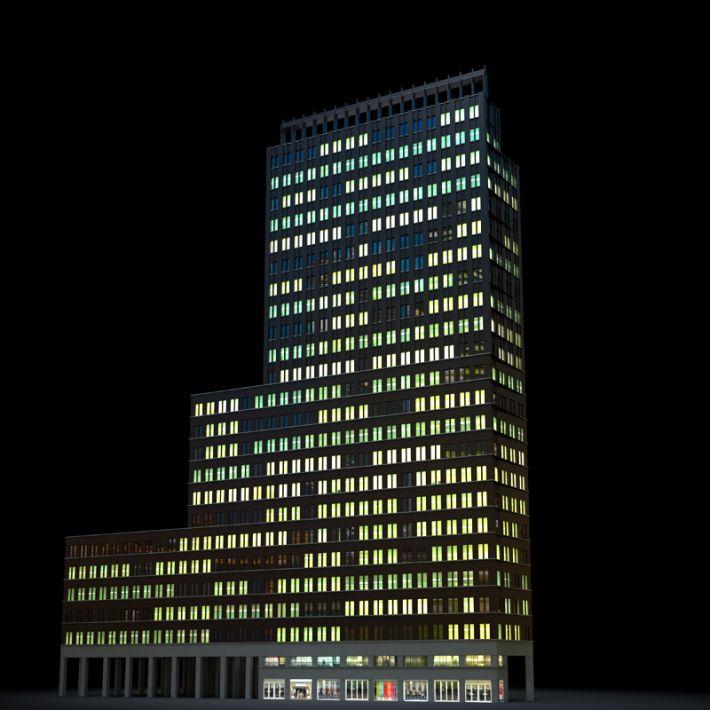Skyscraper 36 Am103 Archmodels Max C4d Obj Fbx 3d Model Evermotion