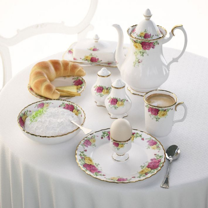 porcelain set 7 AM108 Archmodels