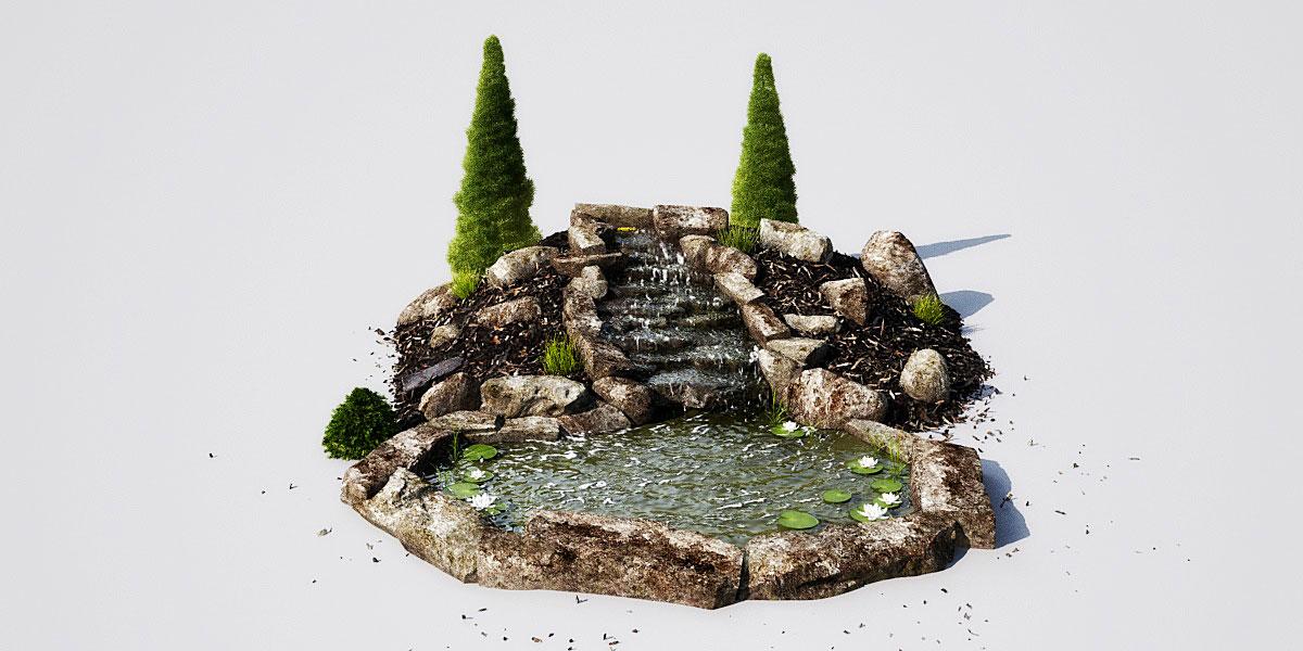 garden pond 13 AM148 Archmodels
