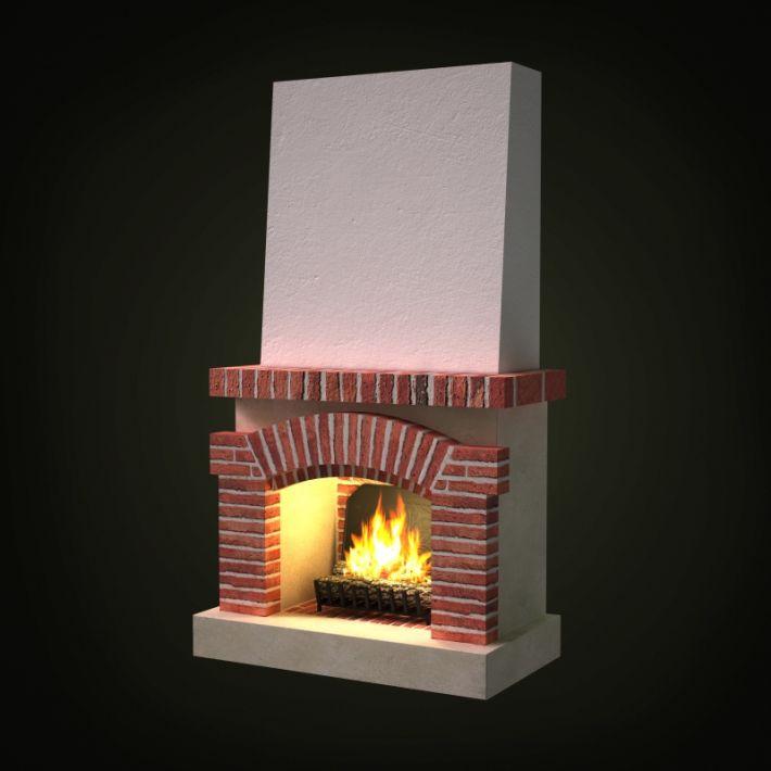 fireplace 41 AM97 Archmodels