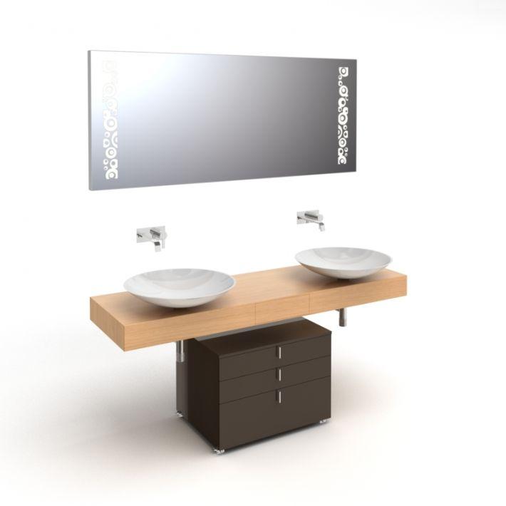 bathroom furniture set 3 AM56 Archmodels