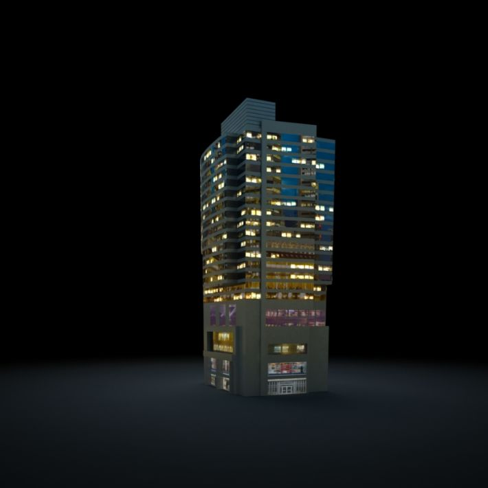 skyscraper 67 AM103 Archmodels