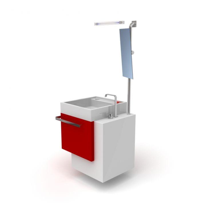 bathroom furniture set 21 AM56 Archmodels