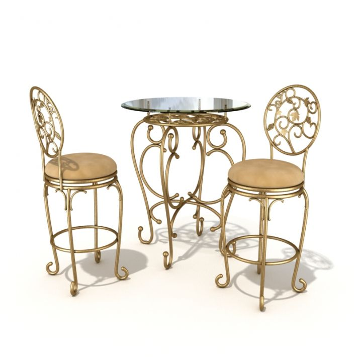 table & chair set 3 AM54 Archmodels