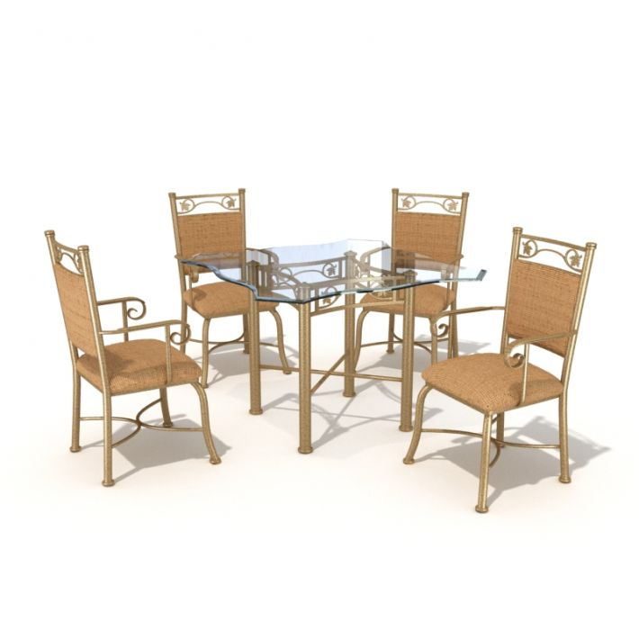 table & chair set 44 AM54 Archmodels