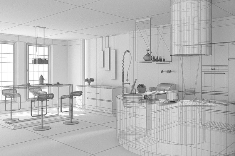 Line Drawing Render 3ds Max : Scene ai archinteriors max interior evermotion