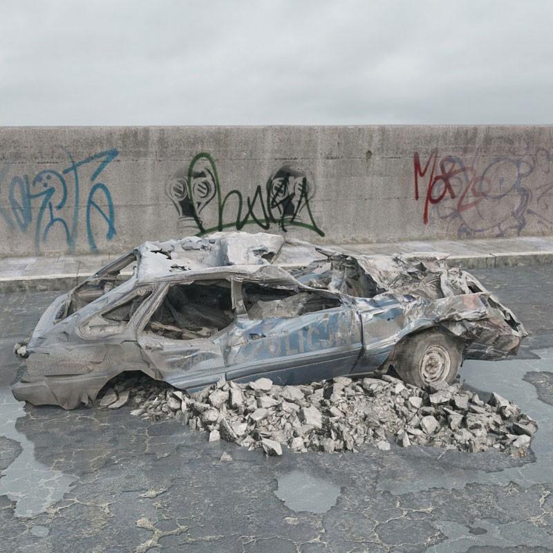 destroyed car 074 am165
