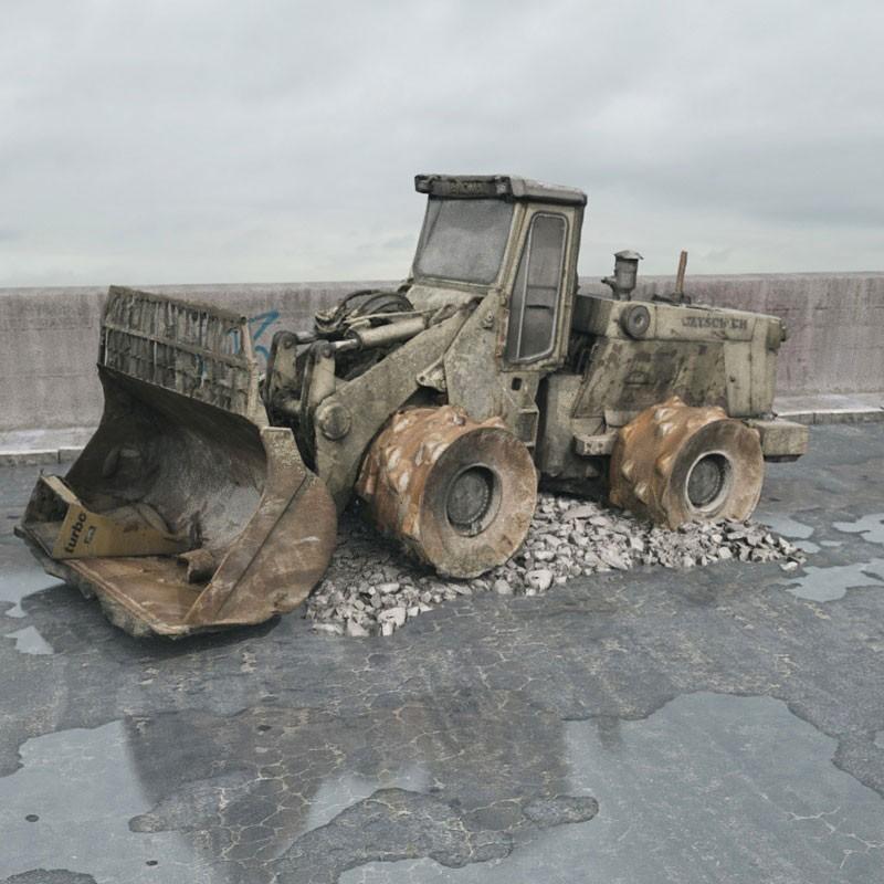destroyed bulldozer 78 AM165 Archmodels
