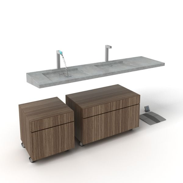 bathroom furniture set 17 AM56 Archmodels