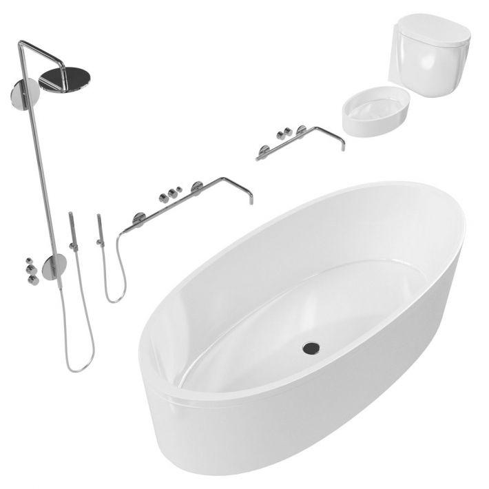 bathroom fixtures 40 AM127 Archmodels