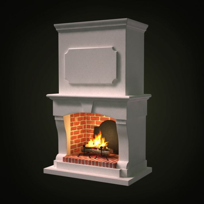 fireplace 43 AM97 Archmodels