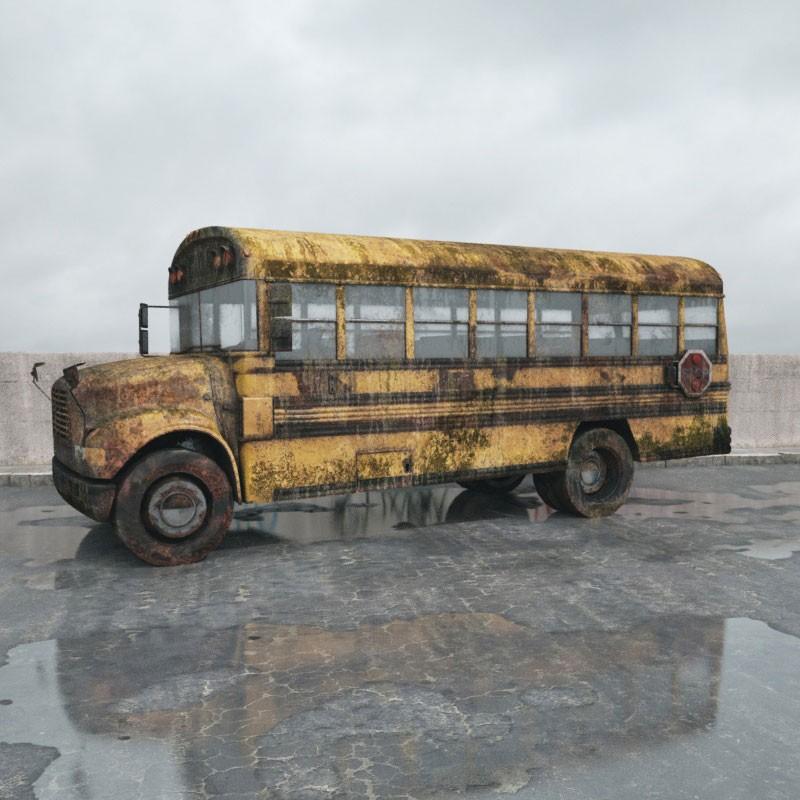 destroyed bus 4 AM165 Archmodels