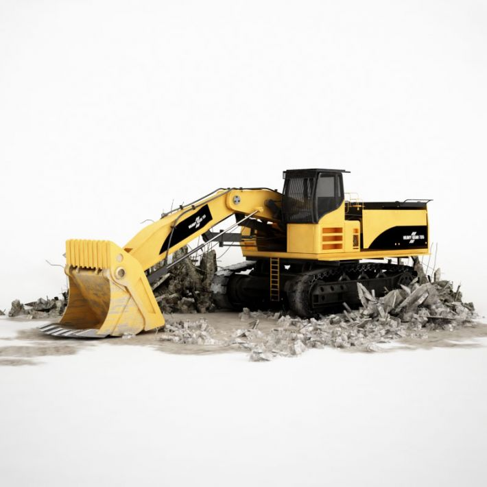 excavator 7 AM115 Archmodels