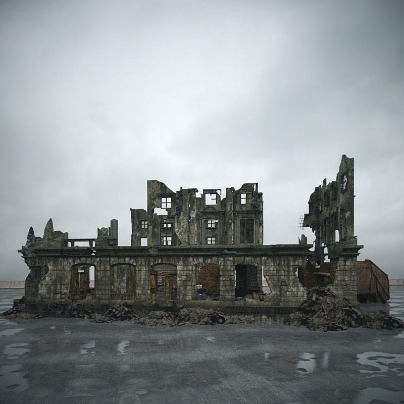 destroyed building 101 AM165 Archmodels
