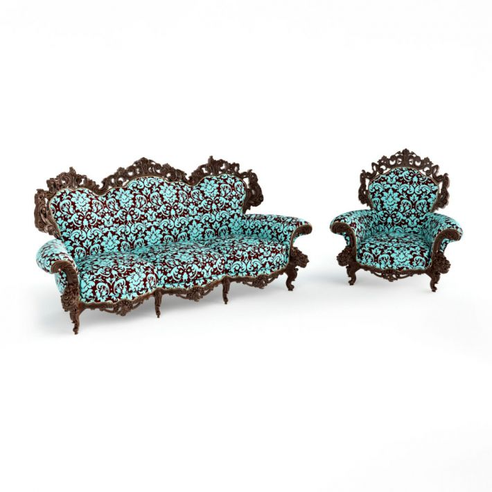 antique furniture 7 AM122 Archmodels