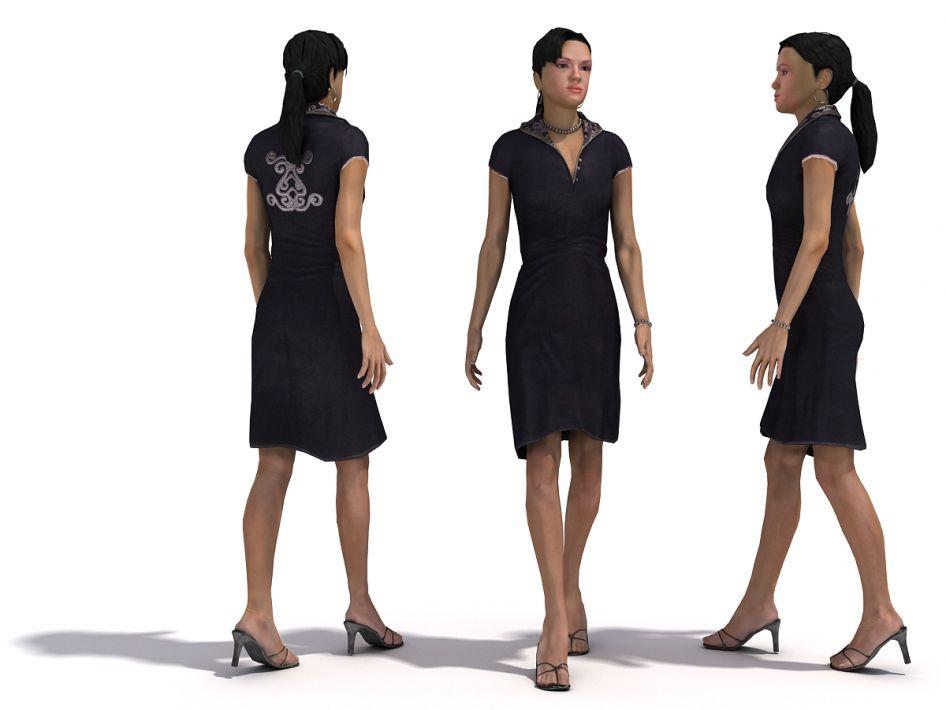 Female 1 3dpeople Vol 1 3ds Dxf Fbx Max Obj 3d Model