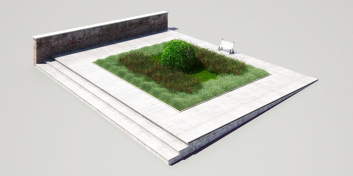 garden 3 3 AM148 Archmodels