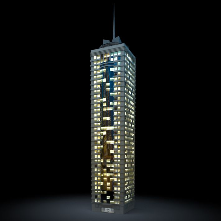 skyscraper 32 AM103 Archmodels
