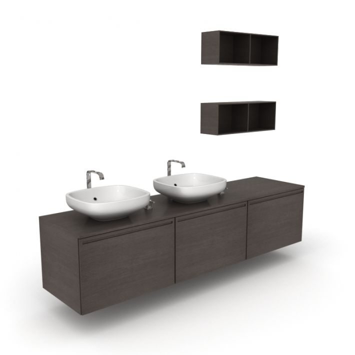 bathroom furniture set 1 AM56 Archmodels