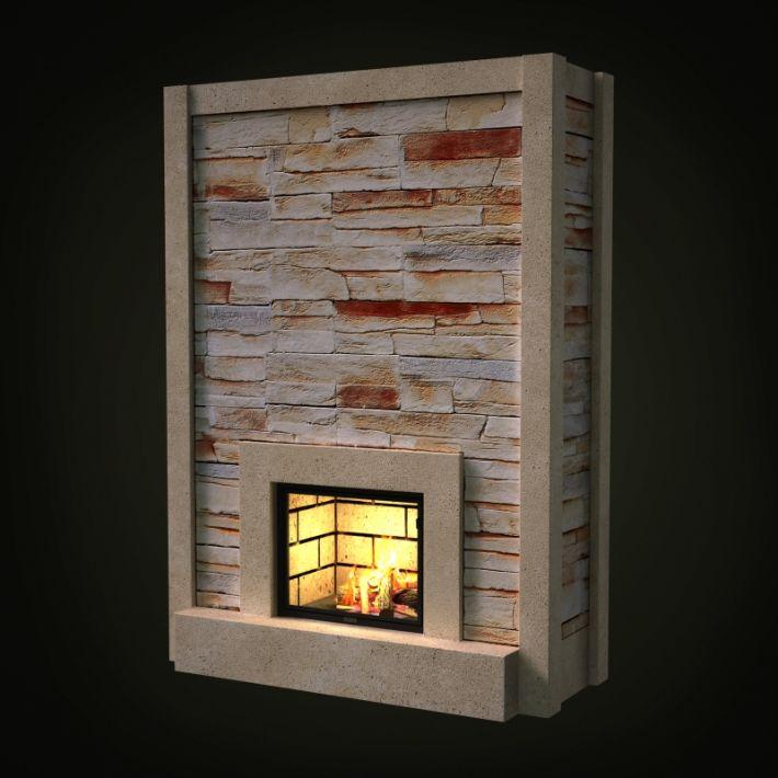 fireplace 44 AM97 Archmodels