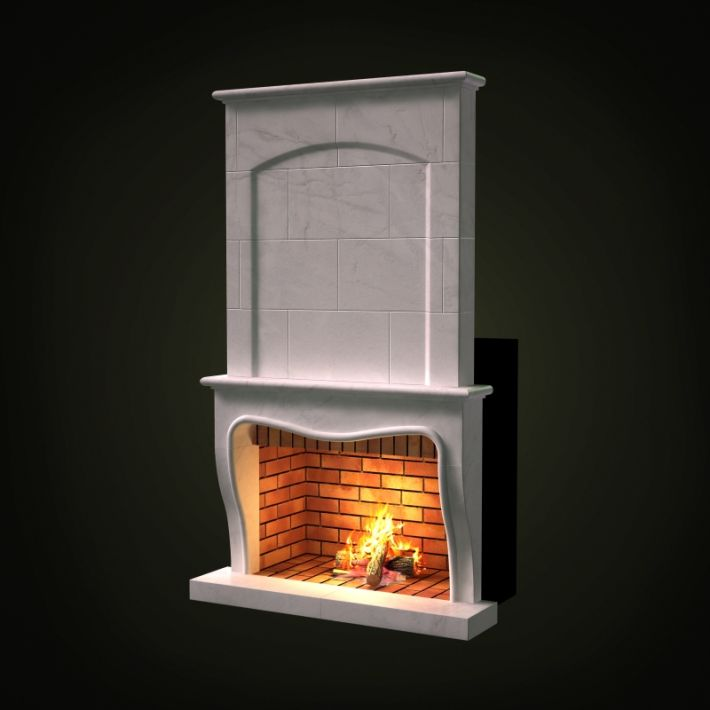 fireplace 45 AM97 Archmodels
