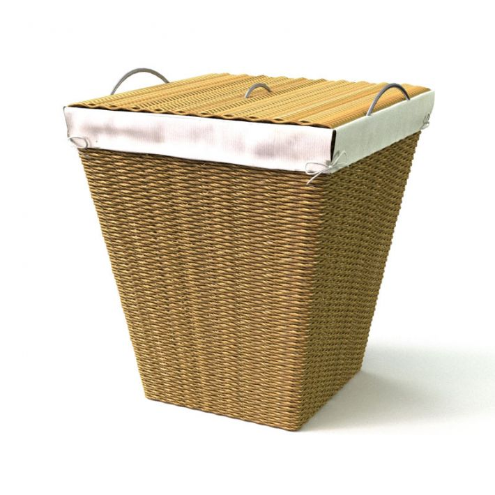 rattan basket 35 AM111 Archmodels