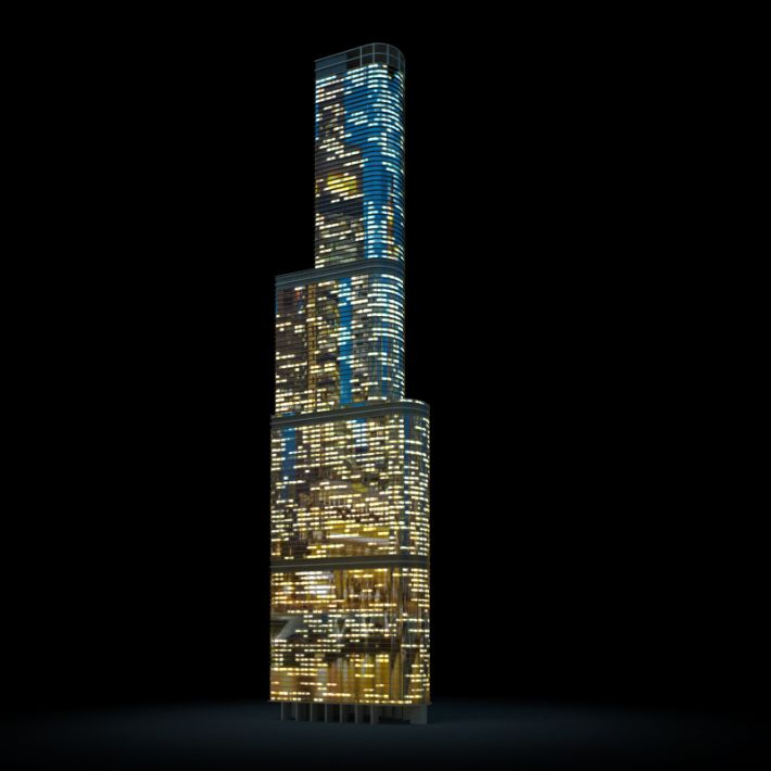 skyscraper 55 AM103 Archmodels