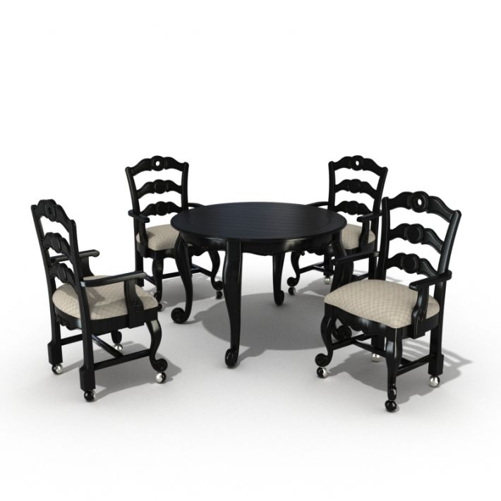 table & chair set 27 AM54 Archmodels