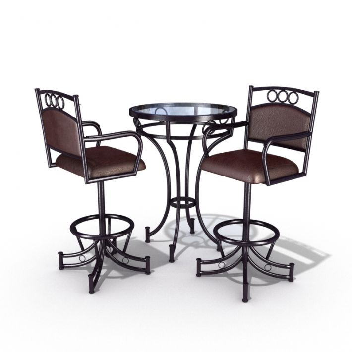 table & chair set 10 AM54 Archmodels