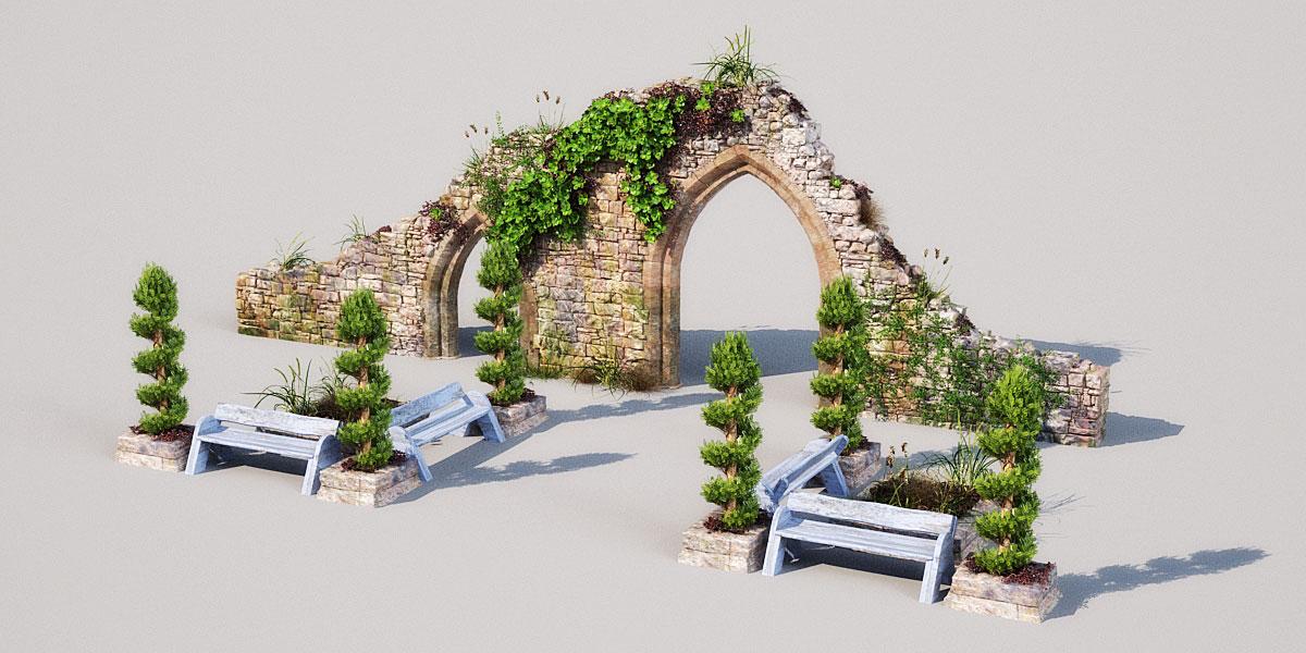 garden 5 AM148 Archmodels